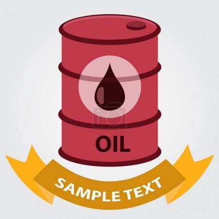 Metal barrel oil storage icon.