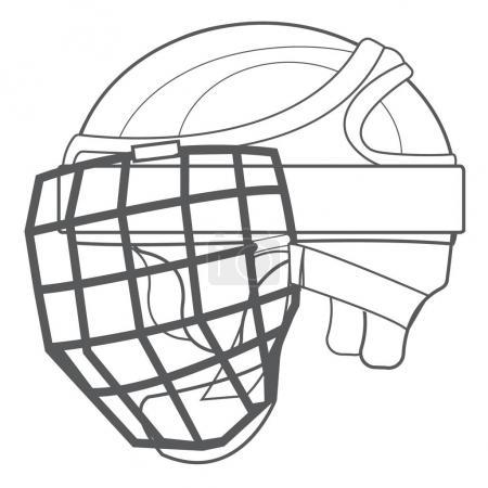 A hockey helmet, hockey ammunition
