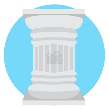 A column in the Doric style logo.