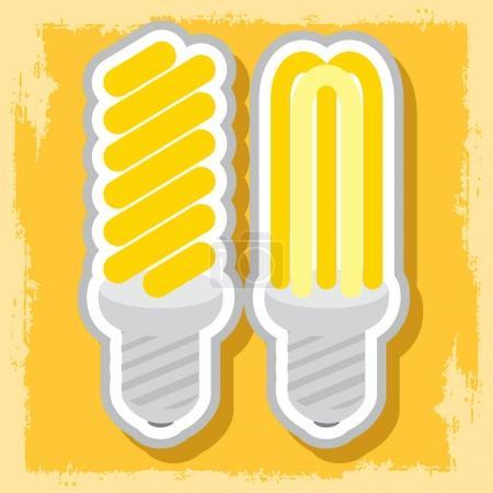 Energy saving light bulbs icon