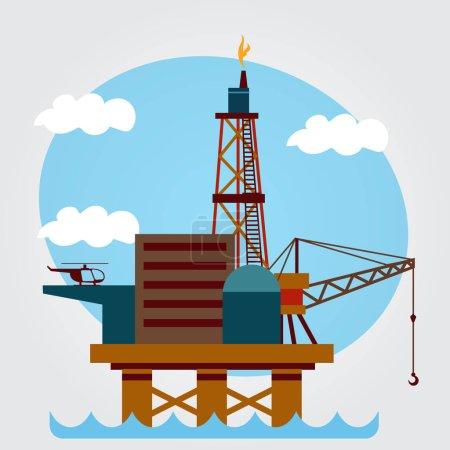 Gas, oil platform. vector illustration...
