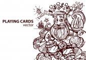 """Постер, картина, фотообои """"Король алмазы карточные масти."""""""