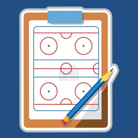 Tablet coach with tactical placement of teams