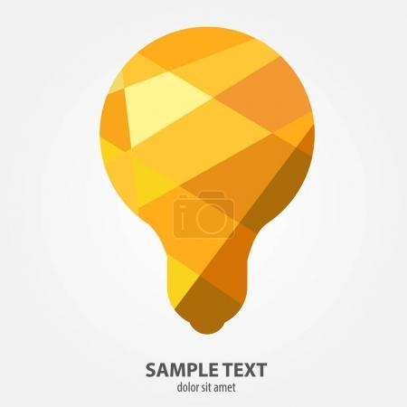 Light bulb in the polygonal style.