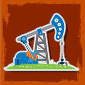 Oil pumps Oil industry equipment vector illustration