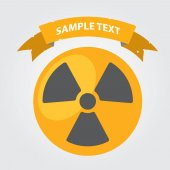 Symbol radiation with banner