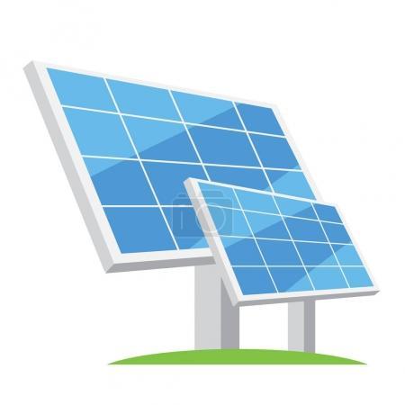 Illustration pour Panneaux solaires. Types d'énergies alternatives. Illustration vectorielle energy.vector écologique - image libre de droit