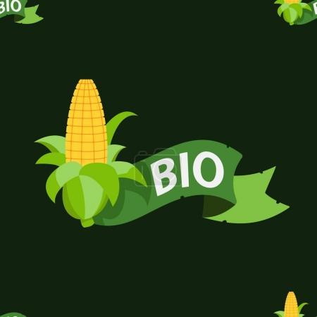 Ear of corn on a dark green background