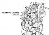 "Постер, картина, фотообои ""Queen of spades playing card suit. """