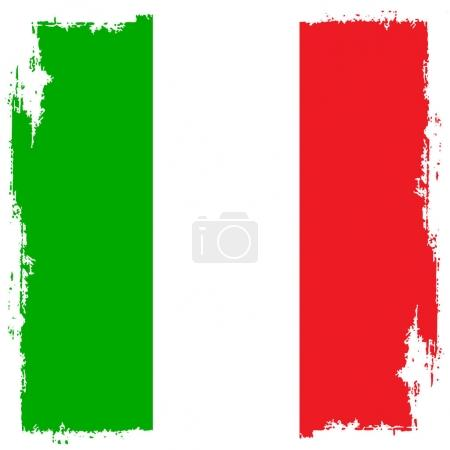 Italian flag in the background grunge style.