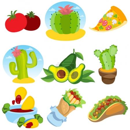 Mexican theme icons