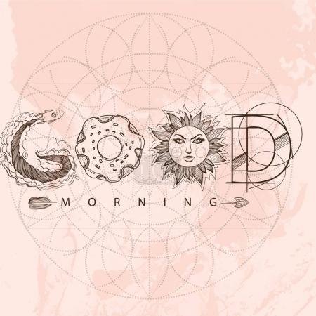 Good morning contour drawing