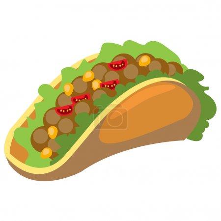 Traditional Mexican Taco logo.