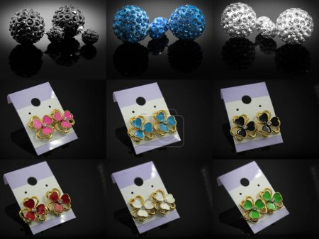 Earrings Mix - Large Set - Silver Gold Stainless S...