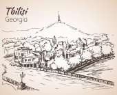 Panoramic view of old Tbilisi Georgia