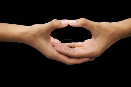 Photo pour Les mains en forme de coeur - image libre de droit