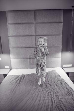 Portrait of a happy little girl sister