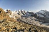 Mountain Range Diavolezza in the Swiss alps, Engadin, Graubunden