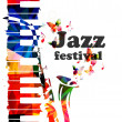 Постер, плакат: Colorful Jazz music concert poster