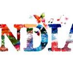 Постер, плакат: Colorful India typographic illustration
