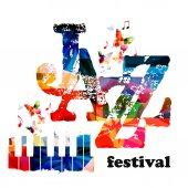 Colorful Jazz music concert poster