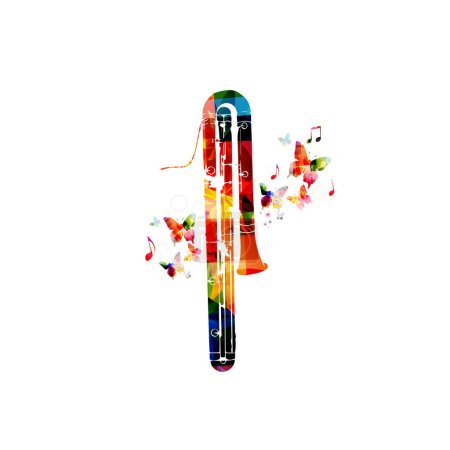 Colorful classical contrabassoon