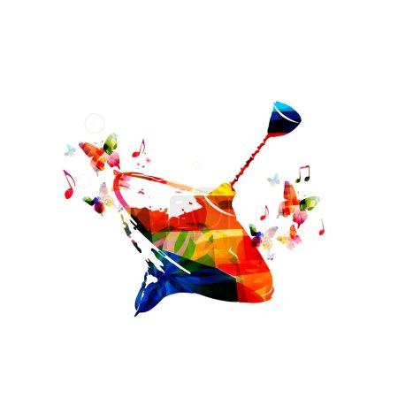 Colorful peg top