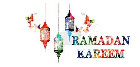 Colorful Ramadan Kareem template