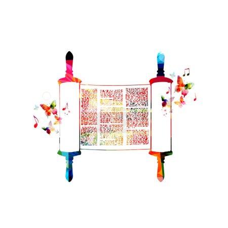 Colorful Torah scroll