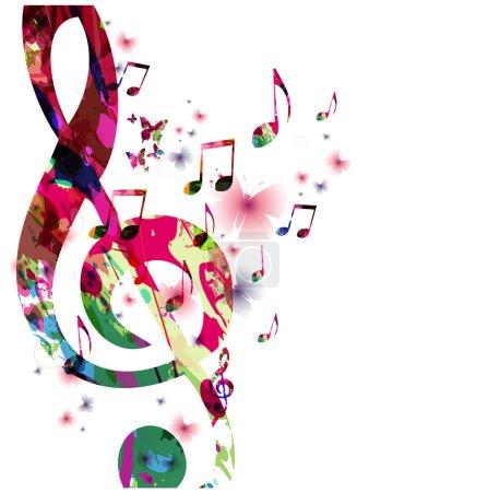 Illustration pour Notes de musique fond, illustration vectorielle - image libre de droit