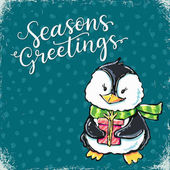 Christmas advent card vector illustration