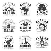 Circus set of vector vintage logos