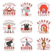 Set of circus logos