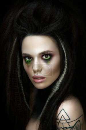 Woman portrait in gothic style