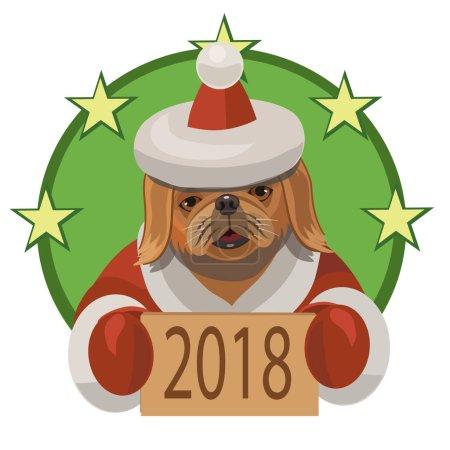 Dog Pekingese new year 2018
