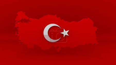 Photo pour Carte de la Turquie. Signe turque. La Turquie pays carte signe. - image libre de droit