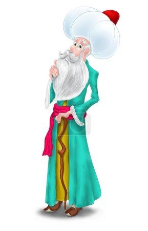 Turkish Character Nasreddin Hodja Illustration....