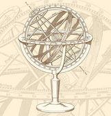 vector Armillary Sphere illustration