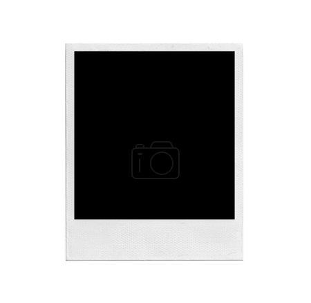 Photo pour Vieille photo instantanée isolée sur fond blanc - image libre de droit