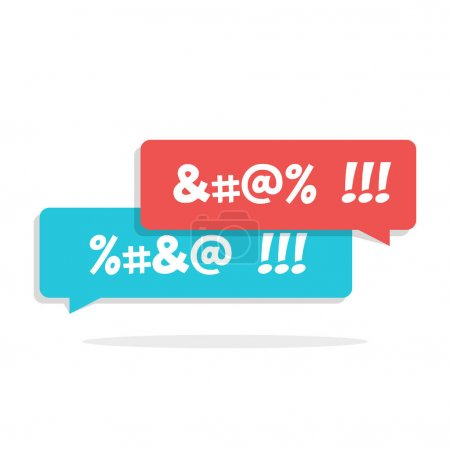 Dirty language. Cursing. Chat speech bubble with c...