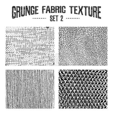 Photo pour Ensemble de textures de tissu grunge 2. Fond vectoriel . - image libre de droit