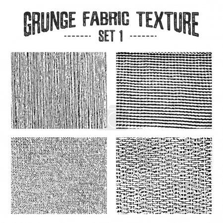 Illustration for Grunge fabric textures set 1. Vector backgrounds. - Royalty Free Image