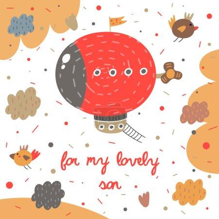 Cute handdrawn postcard