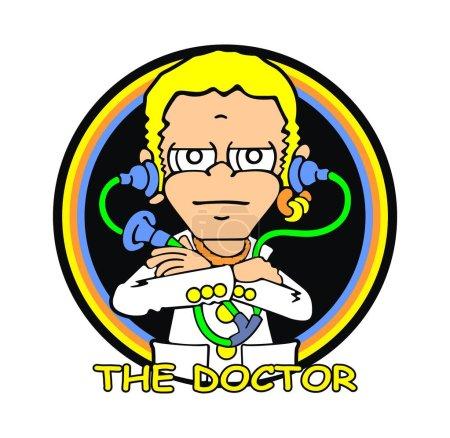 Illustration pour Le docteur 46 Valentino Rossi, cette conception appropriée à deux choix: 1. pour les 2 Fans de Valentino Rossi. Pour les organismes de santé - image libre de droit