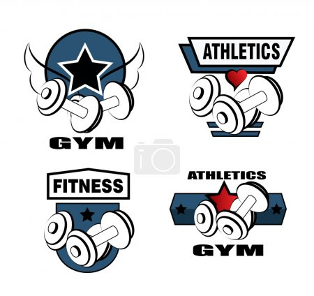 Set of various sports and fitness icons