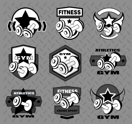 Set of various sports and fitness logo