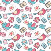 Cute doodle seamless pattern for st Valentine's day