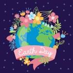 Постер, плакат: Earth Day postcard