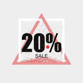 Discount coupon or the sale in a modern style Triangular red frame Vector
