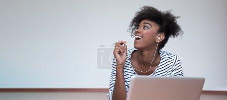 happy African student